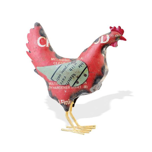 There is one thing a farmhouse requires: you must represent the chickens. Do so with eggs collected here and there, and plenty of knickknacks scattered about—like this dazzling recycled metal piece.  Find the Which Came First Figurine, as seen in the Fresh Meets Eclectic at The Graduate, Oxford Collection at http://dotandbo.com/collections/fresh-meets-eclectic-at-the-graduate-oxford?utm_source=pinterest&utm_medium=organic&db_sku=91085
