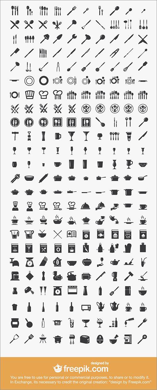 調理器具やキッチン用品、料理風景など全240アイテムが揃ったフリーのアイコン素材 | コリス