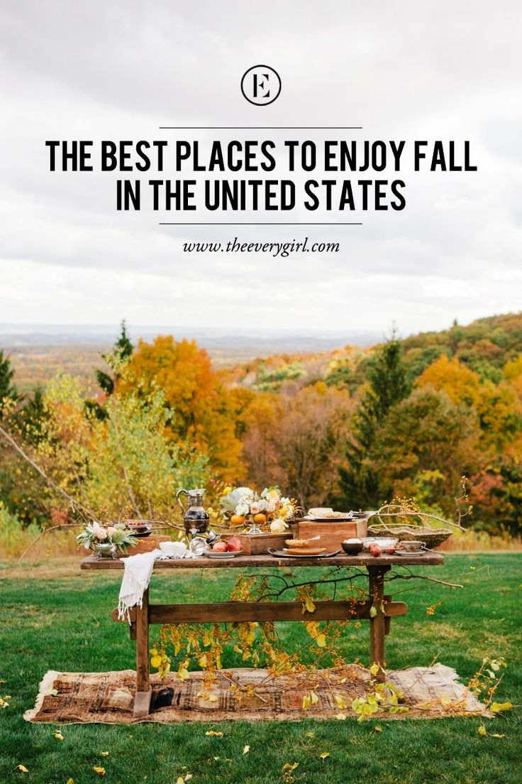 The Best Places to Enjoy Fall in the U.S. #theeverygirl