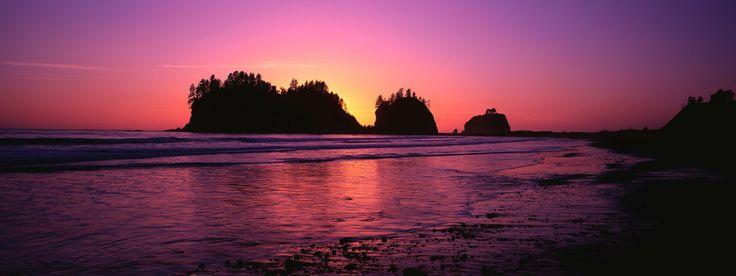 Akşam, kayalar, Deniz, plaj manzarası, gökyüzü, vektör