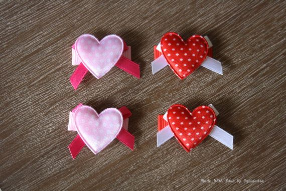 Valentine's Day inspired heart and bow polka by MadeWithLoveByCas, $4.50