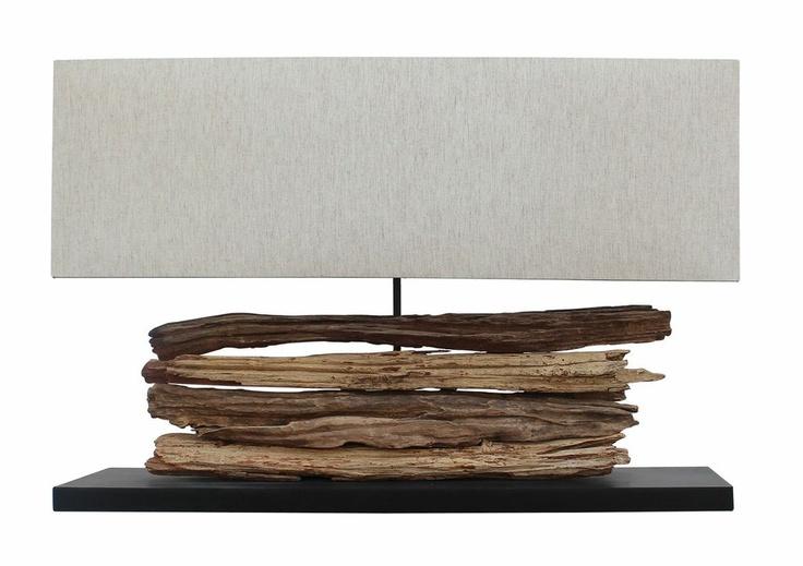 lámpara con aplicaciones de madera.  www.amoble.cl