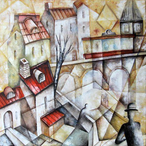 By The Riverby Eugene Ivanov  #eugeneivanov #cubism #avantgarde #threedimensional #cubist #artwork #cubistartwork #abstract #geometric #association #@eugene_1_ivanov