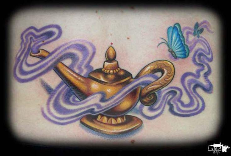 Genie Lamp Tattoo | Off the Map Tattoo : Tattoos : Memorial : Genie Lamp