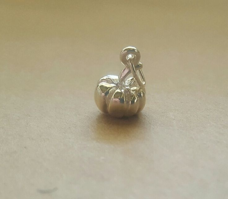 Charm - PUMPKIN - Sterling Silver or 9ct Gold