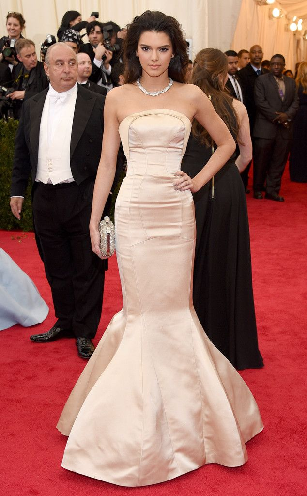 Kendall Jenner wows at the Met Gala in this elegant gown by Topshop.