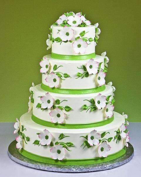 Pink Apple Blossoms Cake #wedding #cake www.BlueRainbowDesign.com