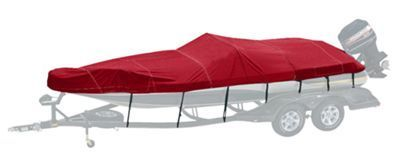 Bass Pro Shops Exact Fit Boat Cover for TAHOE 222 Model Deck Boat with Ski Tow - Sharkskin Blue