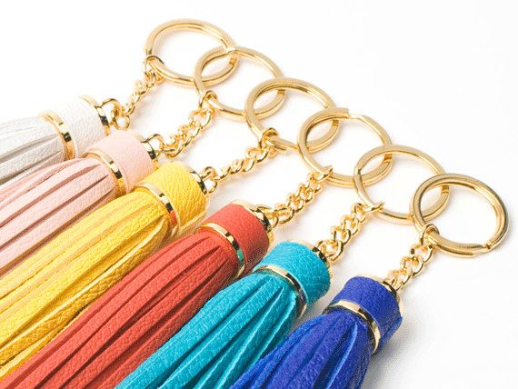 Etsy Obsession - Goat Leather Tassel Keychain  Choose One by SiroganeLeatherWorks, $16.90