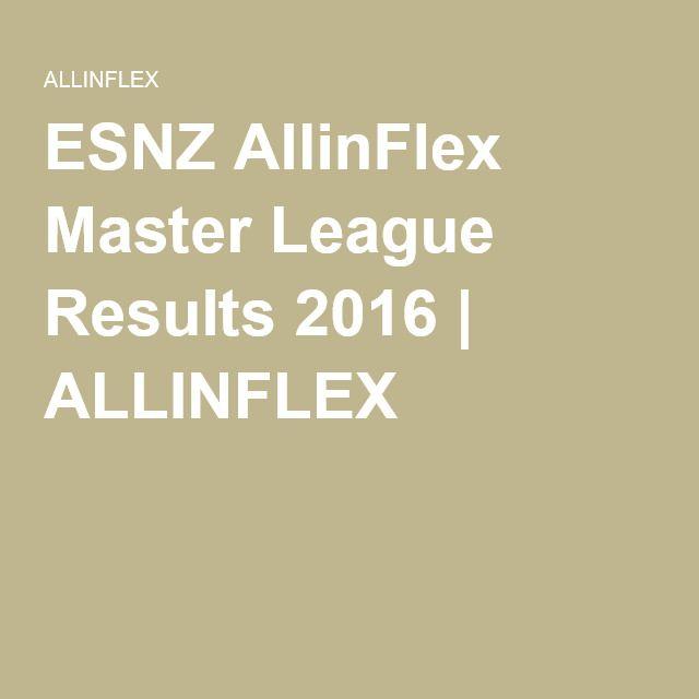 ESNZ AllinFlex Master League Results 2016 | ALLINFLEX