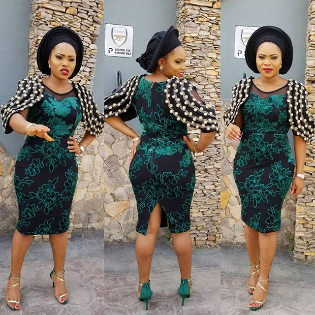 Fascinating Aso Ebi Short Gown Designs 2018 For Your Next Owambe