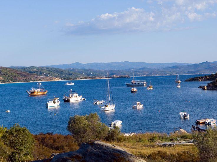 Small port at #Sithonia #Halkidiki #Greece #boats #holidays