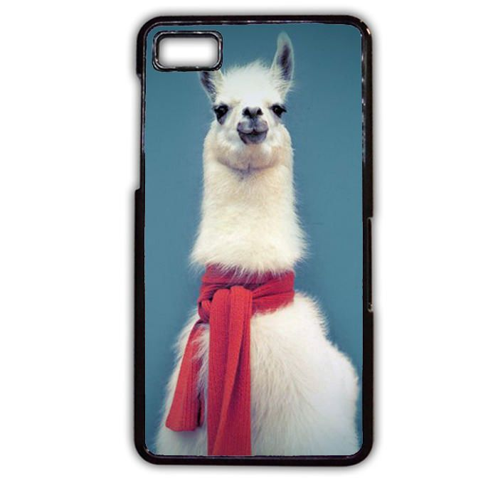 Red Scarf Llama 3 Phonecase Cover Case For Blackberry Q10 Blackberry Z10