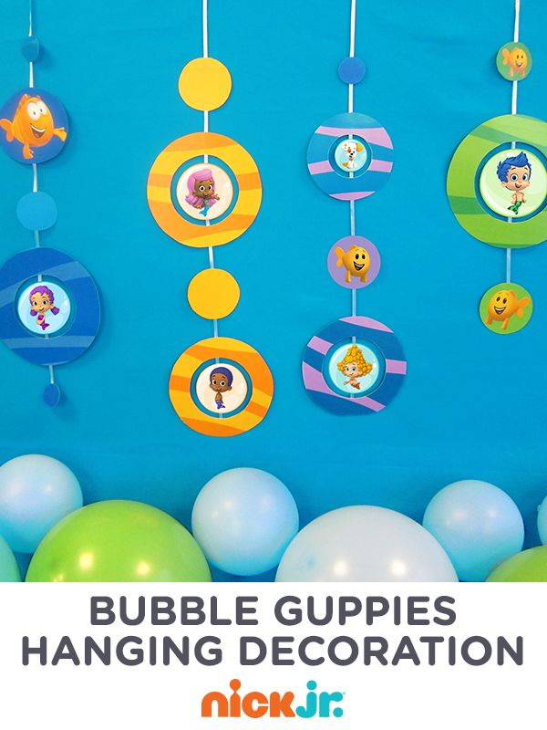 Have a bubble ball with this bubble guppies hanging decoration bubble guppies guppy and - Bubble guppies birthday banner template ...
