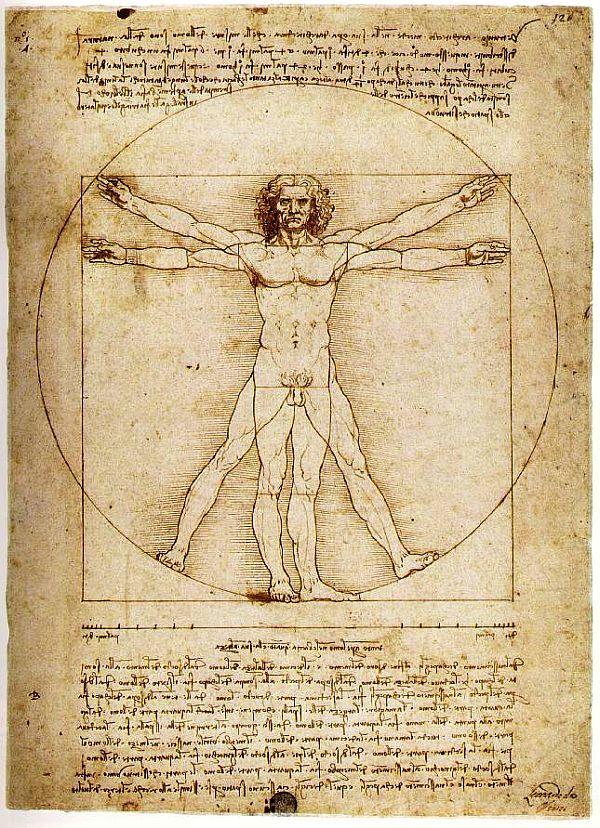 Homem Vitruviano - Leonardo da Vinci