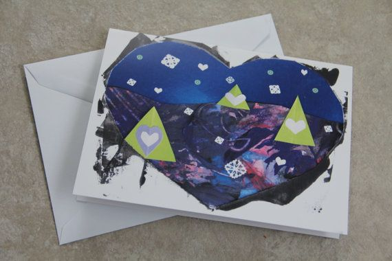 Christmas Card  Heart Framed Winter Wonderland by LoveRockResidue, $4.00