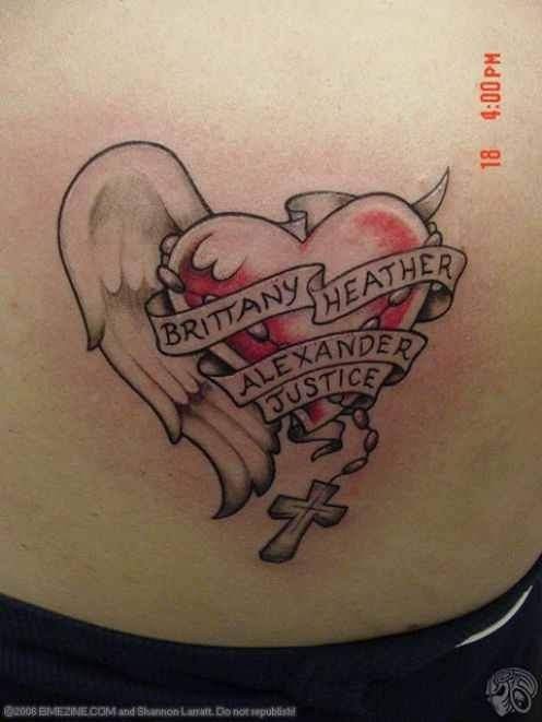 115 best name tattoos images on pinterest needle tatting for Child name tattoo