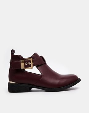 River Island Red Jennie Cut Out Boots