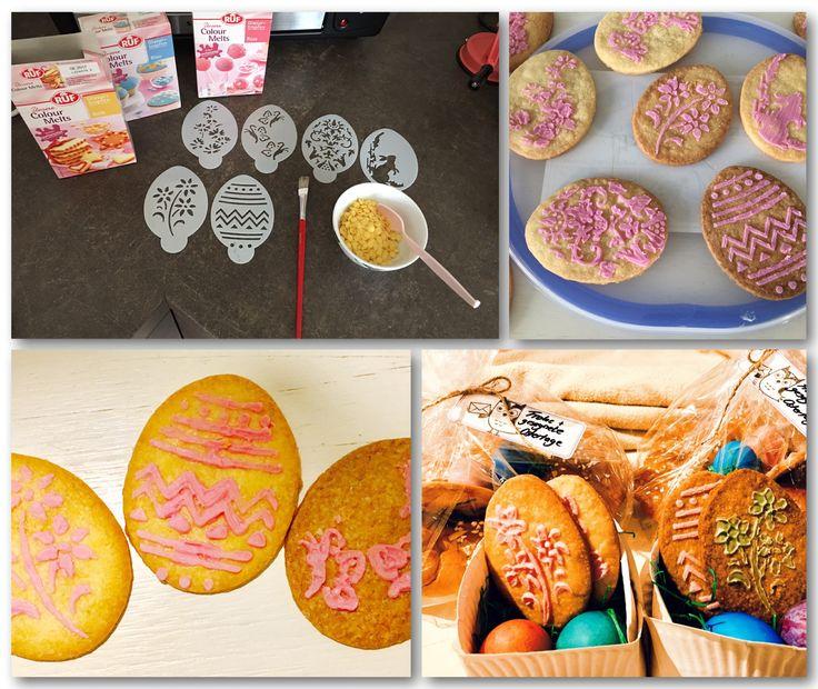 Coole Idee für das Osterfest! Nicht nur Eier färben sondern auch Eierplätzchen bemalen...perfekt auch für Kinder (ab circa 6 Jahren )