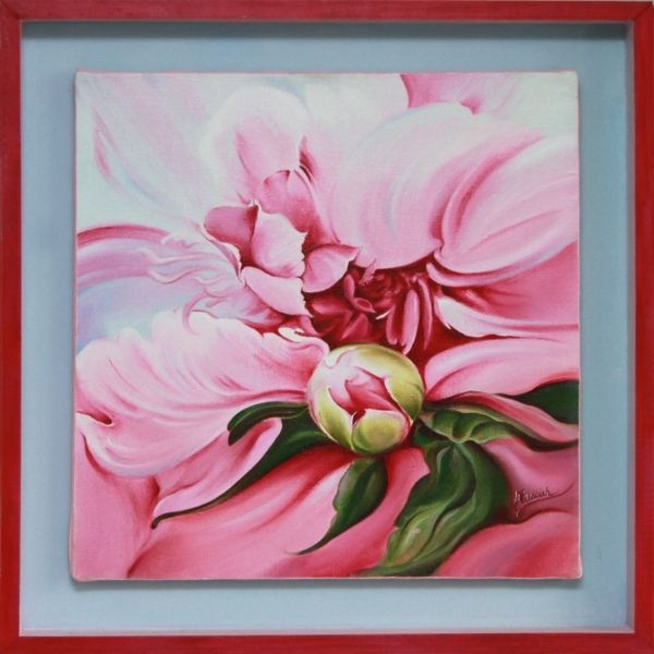 """OIL ON CANVAS """"The Peony"""" on Behance"""