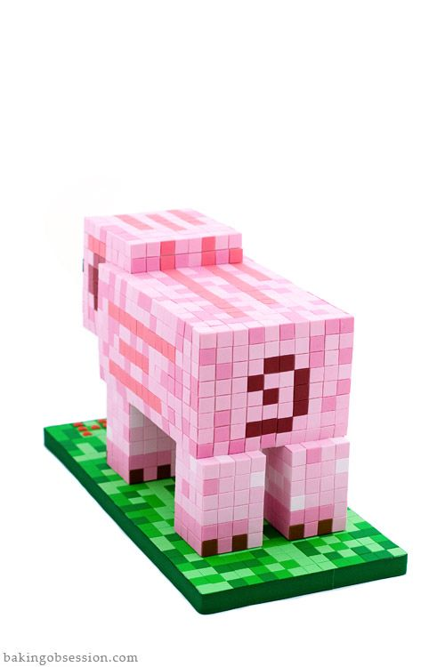 Minecraft  Pig Cake-back | Baking Obsession