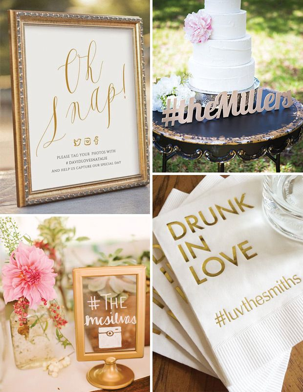 Wedding Hashtags // Top 10 Wedding Trends for 2017 // www.onefabday.com