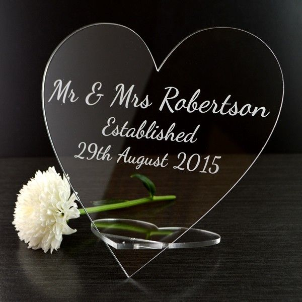 Personalised Engraved Mr And Mrs Love Heart Plaque The Perfect Wedding Anniversary Gift