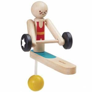 Plan Toys: Akrobata - podnoszenie ciężarów, 49 zł