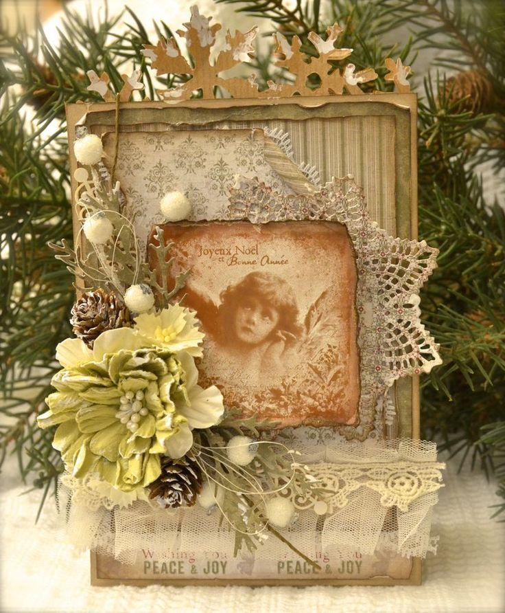 Stempelglede :: Design Team Blog. Rubber stamps used for this project: Vintage Christmas stamp set. 2014 © Cathrine Sandvik