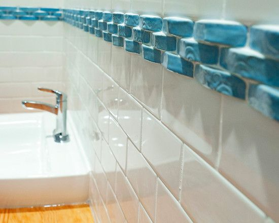 Glass Tile Borders For Bathrooms And Clean But Boring Here Are Some Neat