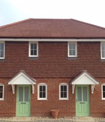 The project involved the development of six luxury homes for Craftsman roofing