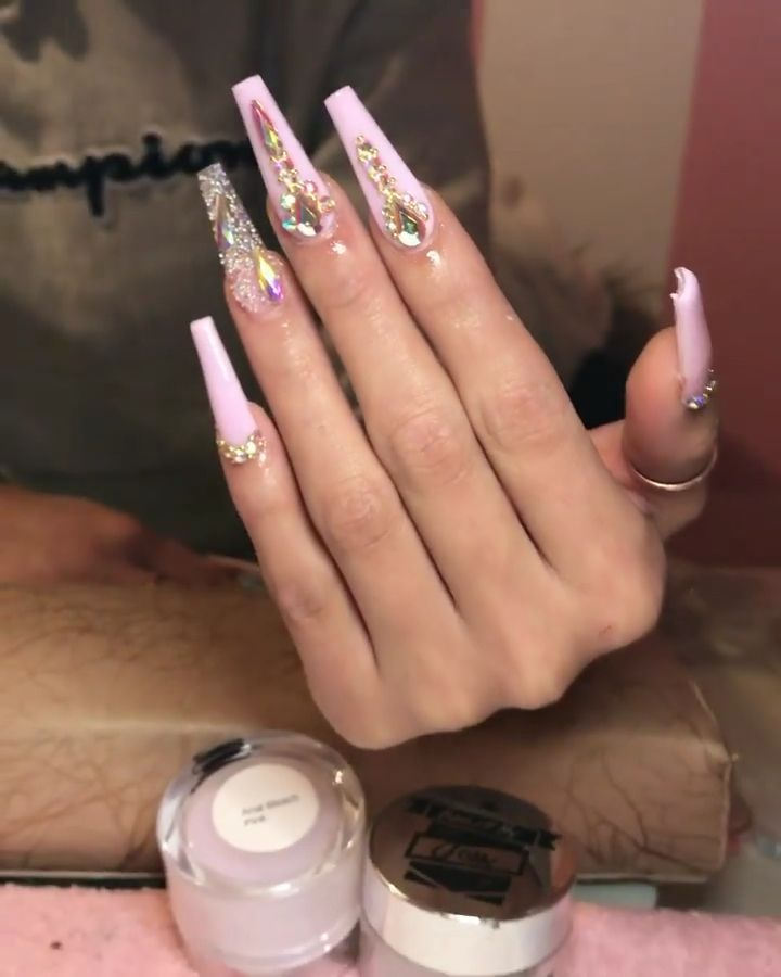 Summer Acrylic Nails Coffin Designs In 2020 Bling Acrylic Nails Long Acrylic Nails Coffin Bling Nails