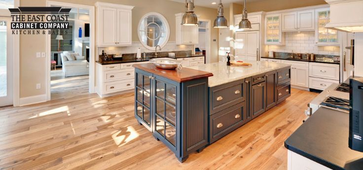 Two Color Kitchen Cabinets Two Tone Blue Kitchen Door