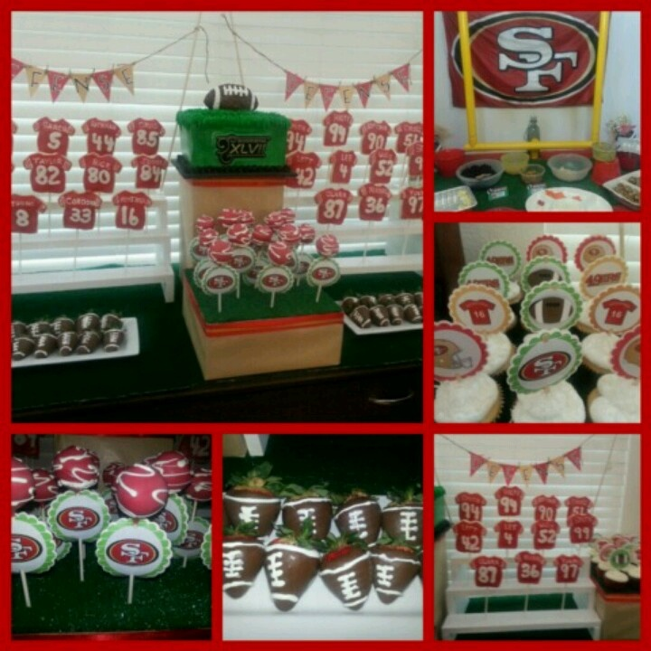 49ers party superbowl pinterest for 49ers bathroom decor