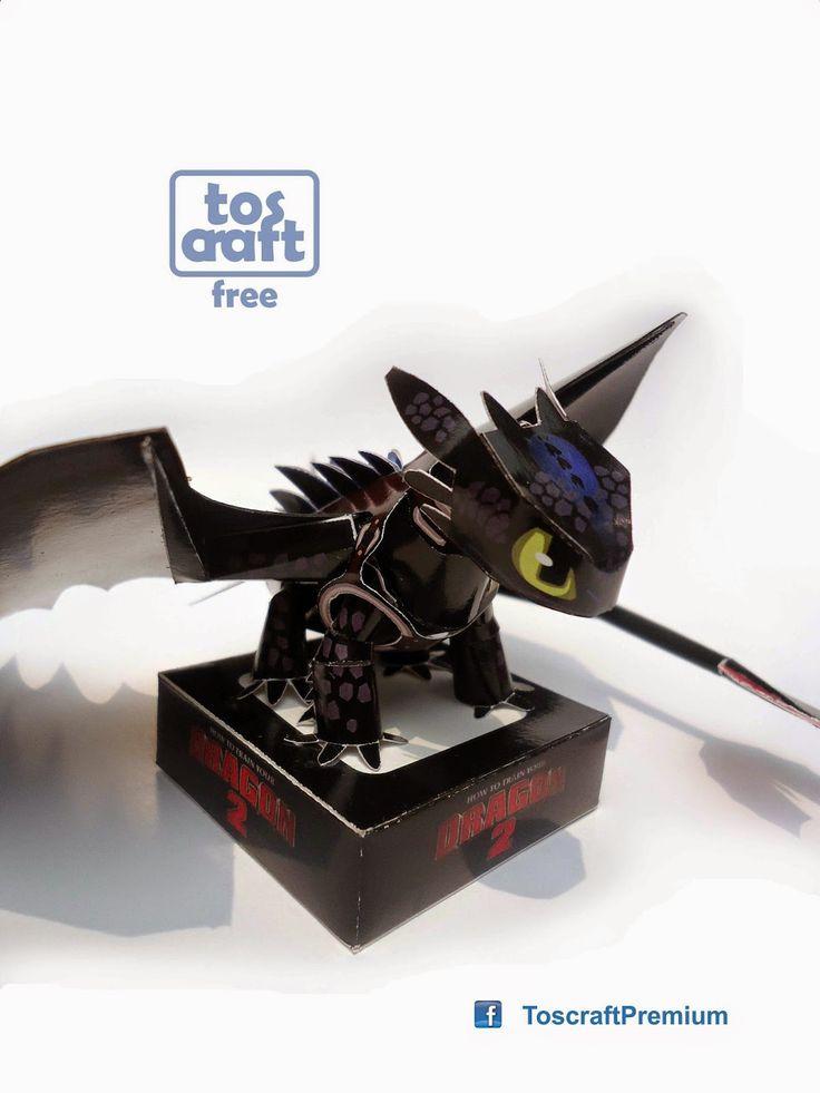 Paperkraft.net - Free Papercraft, Paper Model, & Papertoy: Toothless Papercraft (Dragon)