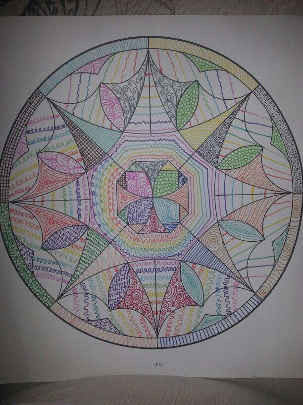 Mandala met zentangle techniek
