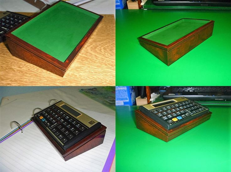 Base para inclinar a calculadora HP 12C - Em madeira envernizada!