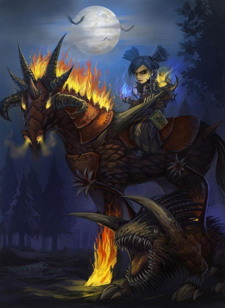 Gnome 4: Badass Gnome Warlock With Her Felpuppy