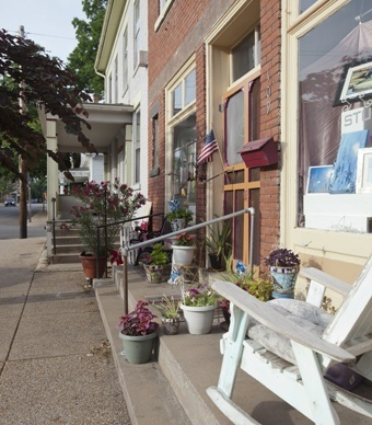 Voted one of the top 10 coolest small towns.  Main Street.  Ste. Genevieve, Missouri.