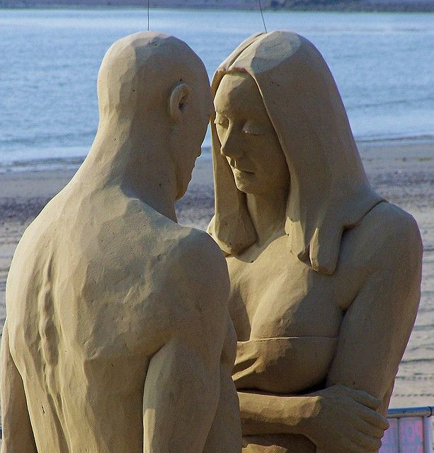 "Sand Sculpture ""Alone Again ... Naturally""  Crescent Beach - Revere, MA 2007"