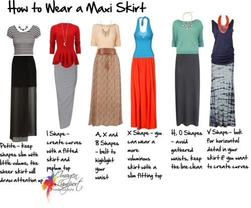 How to Wear a Maxi Skirt: belted to higher waist, not too voluminous, maybe transparent from knee down