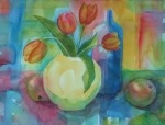 Tulips and Apples - watercolour - for more information, check out my website www.dorset-artist.co.uk