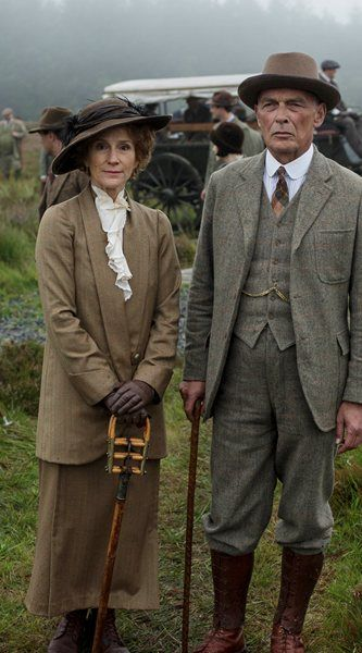 Downton Abbey Christmas special 2014: preview photographs Lord and Lady Sinderby