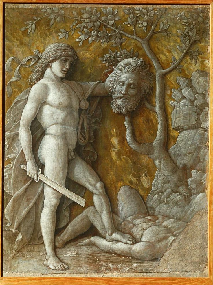 david with the head of goliath (1490-5) - andrea mantegna