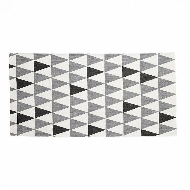 Hubsch vloerkleed grafische patroon zwart wit grijs - Winkel voor Thuis
