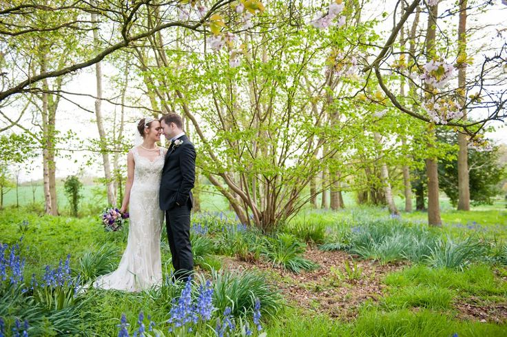 Bluebells at Chiddingstone Castle Wedding
