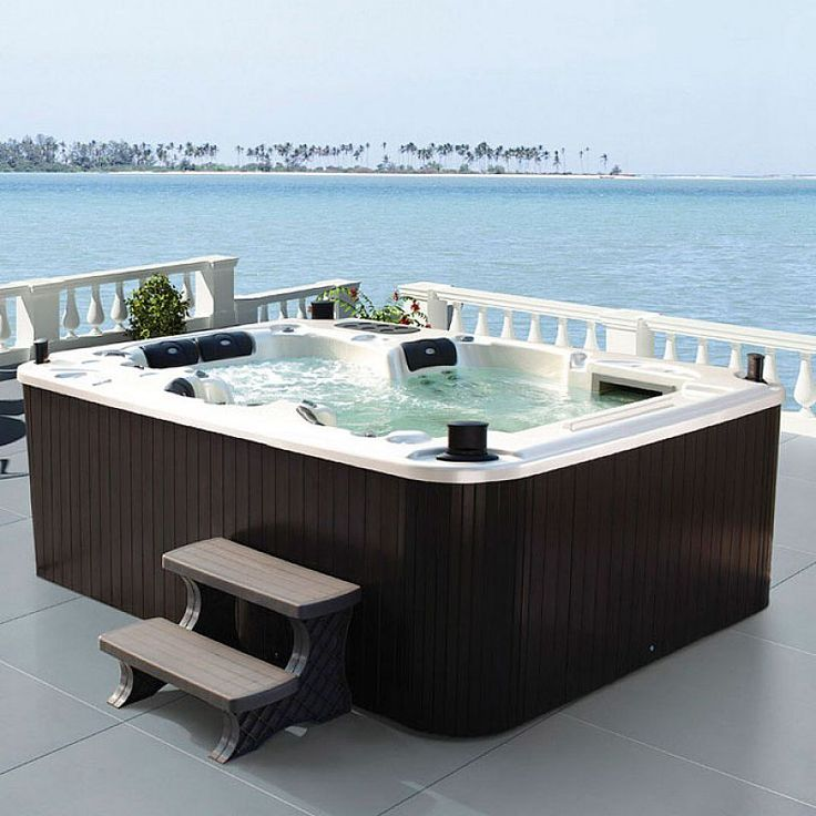 42 best images about jacuzzi design ideas on pinterest portable spa hot tub deck and luxury. Black Bedroom Furniture Sets. Home Design Ideas