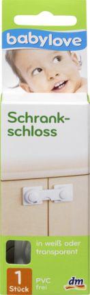 Das babylove Schrankschloss verschließt Schranktüren sicher vor Kindern. Zum Öffnen des Schrankschlosses den Entriegelungshebel eindrücken und den Verschlu...