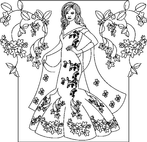 African American Princess Coloring PageAmericanPrintable
