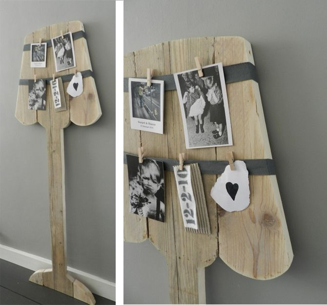 Fotolamp, weer eens wat anders voor aan de muur. Snel en eenvoudig zelf te maken.